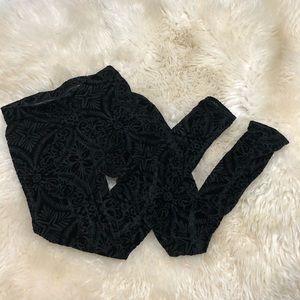 Blackmilk Burnt Velvet Leggings
